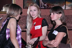 Ukrainian women at a tour social.