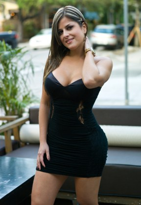 Stunning hispanic young woman