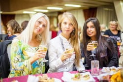 Ukrainian women at a singles tour social